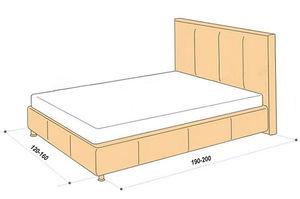Размеры полуторной кровати