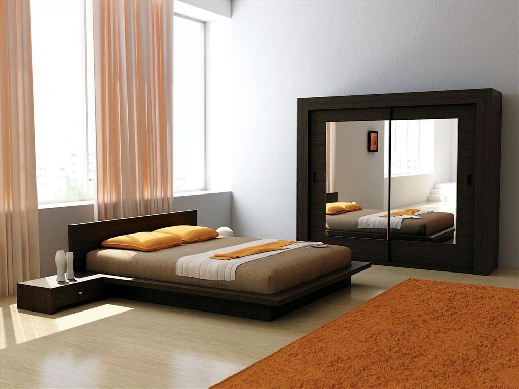 Шкаф-купе – отличный выбор для минималистской спальни