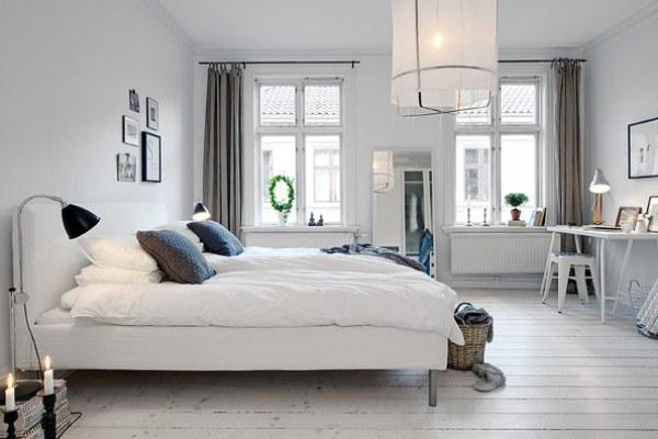 Скандинавский интерьер в спальне