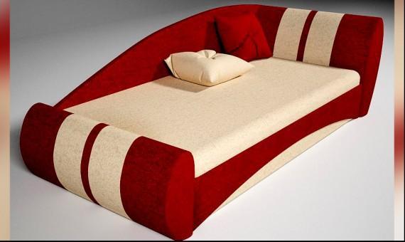 Сочетание бежевого и красного в мебели для интерьера комнаты мальчика