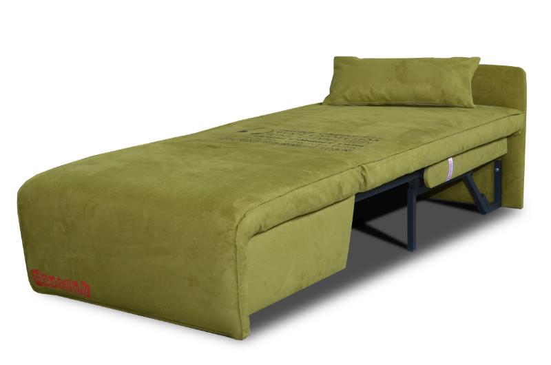 Спальное раскладное место зеленого цвета