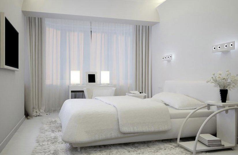 Спальня с приятным дизайном