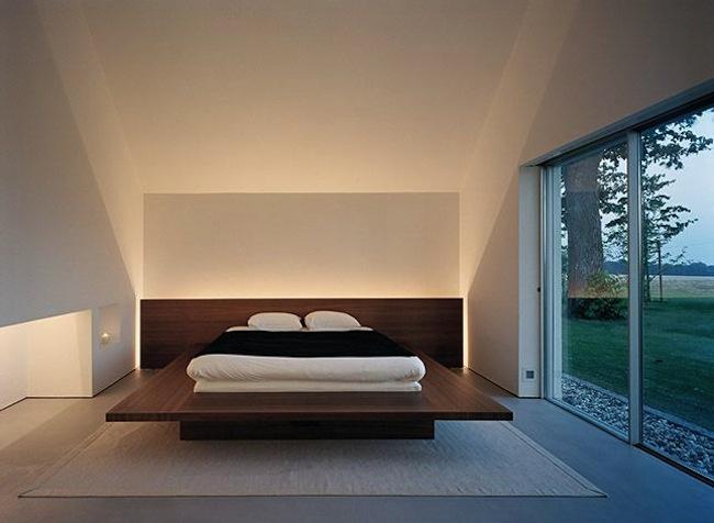 Спальня в стиле японский минимализм