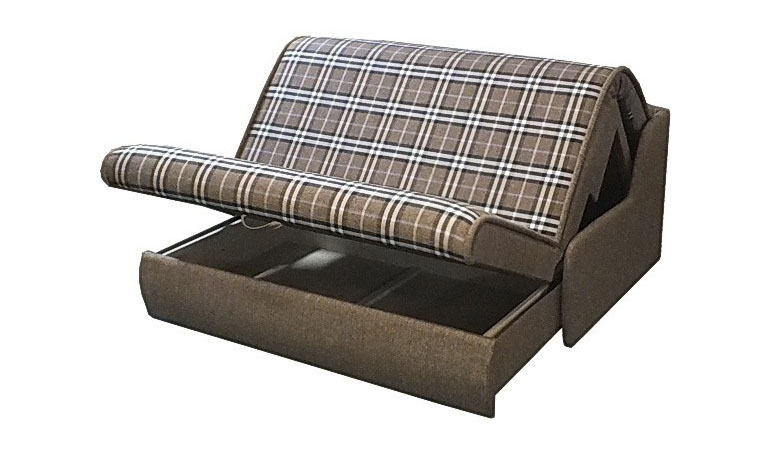 Спинка дивана аккордеон изготовлена из цельного листа ППУ