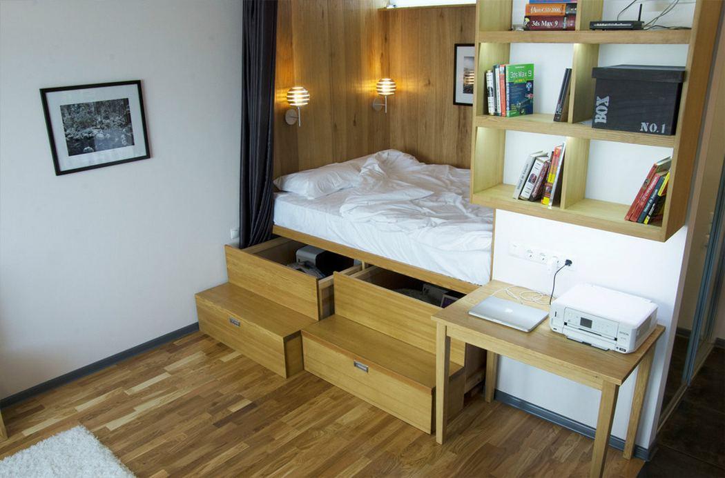 Способы размещения спального ложе