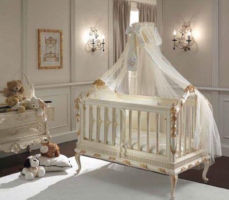 Стиль барокко в интерьере детской спальни