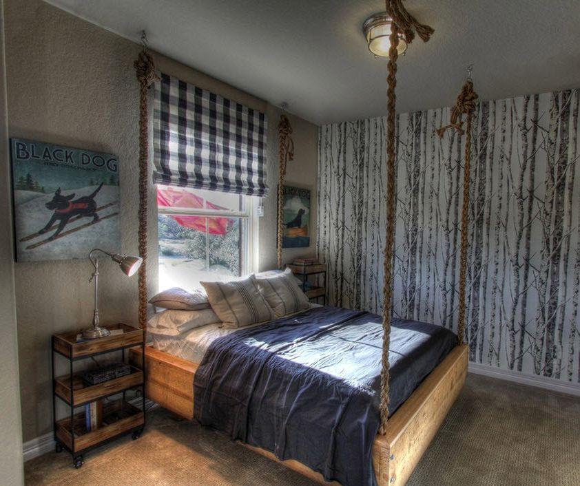 Стили интерьера и подвесные кровати
