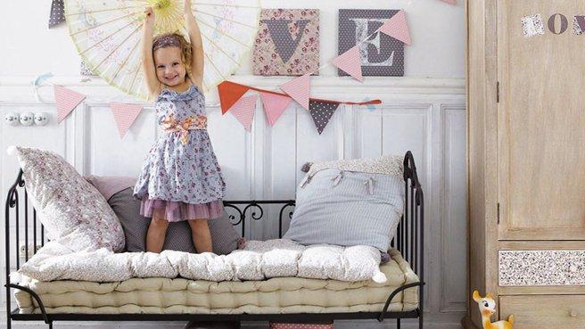 Стильная кровать для ребенка с прочным каркасом