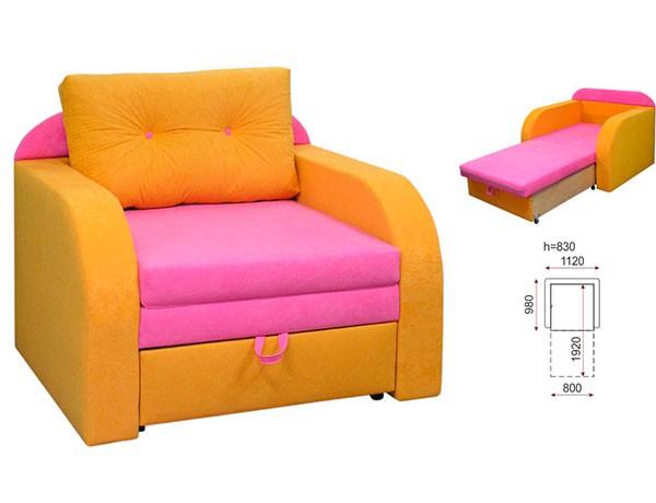 Стильное яркое кресло