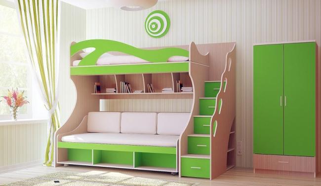 Стоимость двухъярусной кровати зависит от ее комплектации