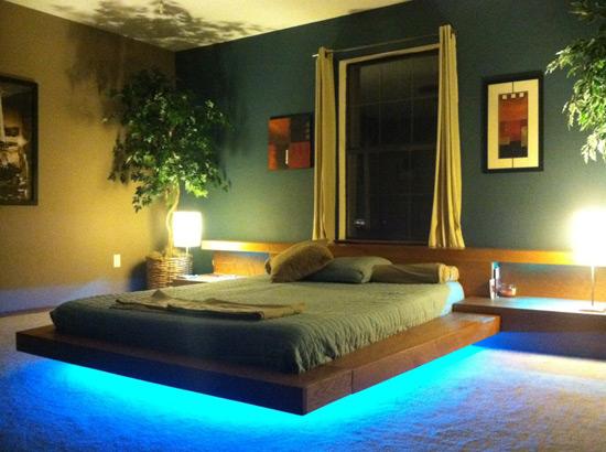 Цветная подсветка современной мебели