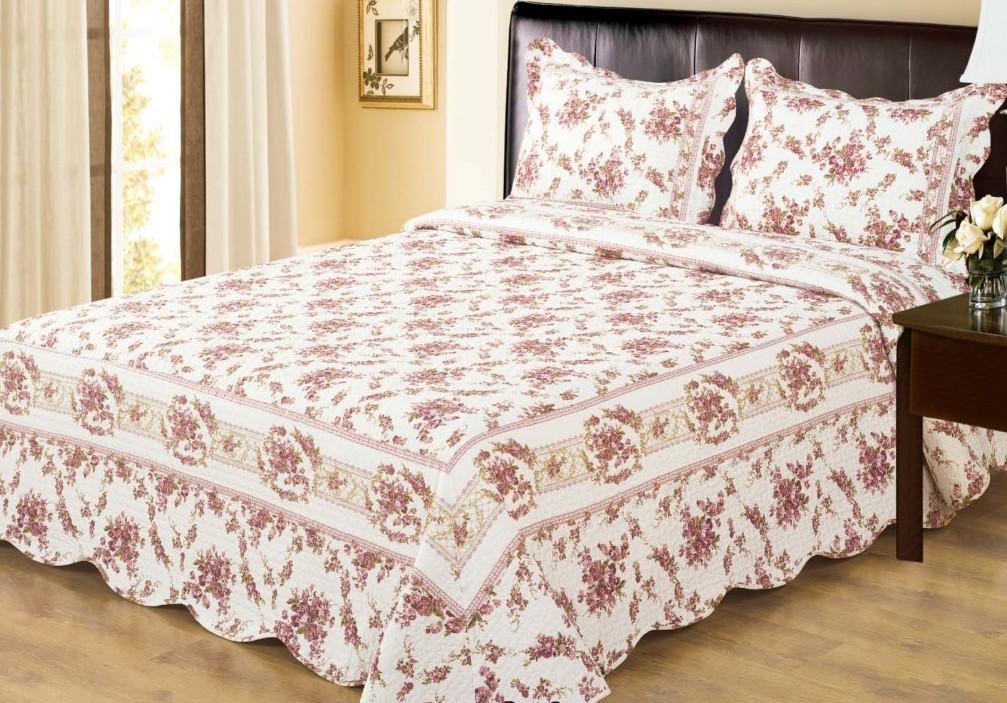 Цветочное покрывало для кровати