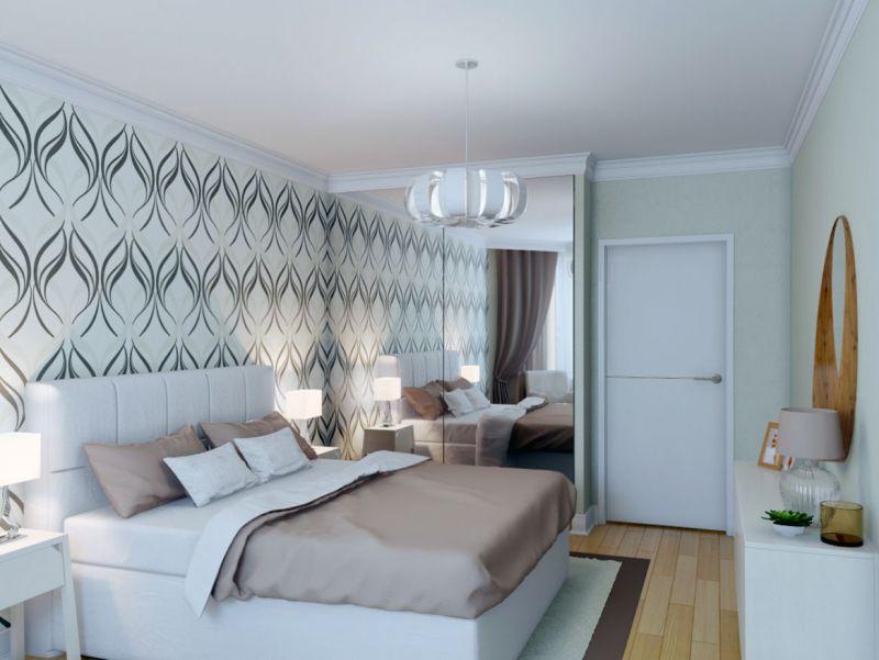 Удачное оформление спальни