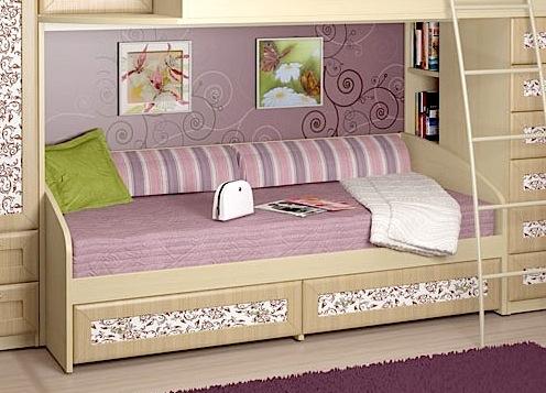 Удобная двухъярусная модель современной кровати