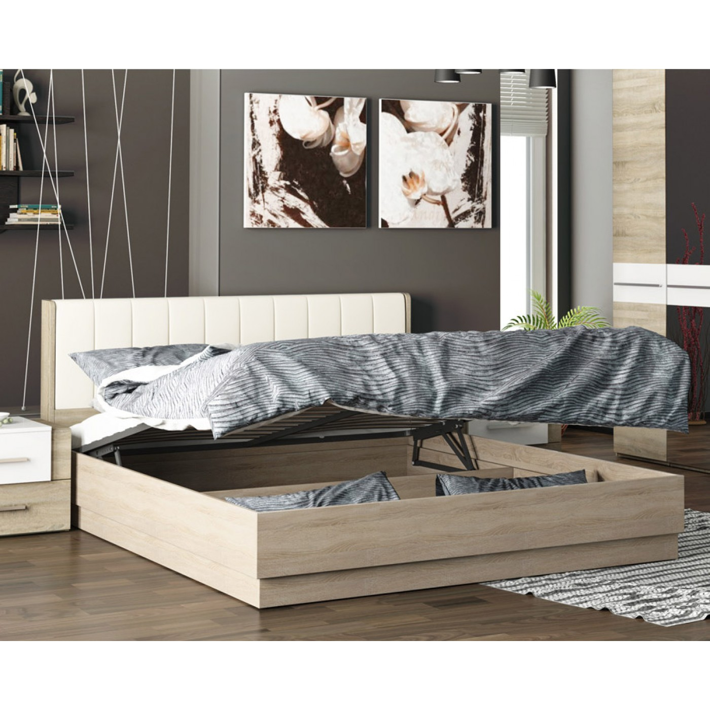 Удобная конструкция современной кровати