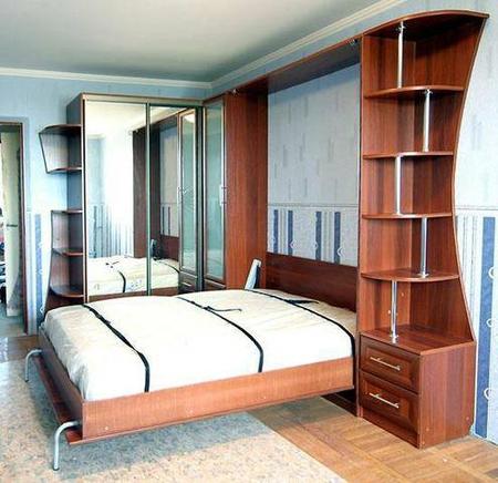 Удобство в небольшой квартире с помощью мебелью