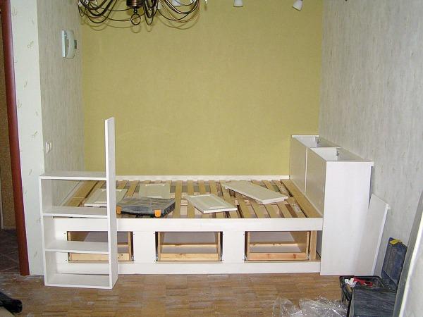 Установка спального места в спальне
