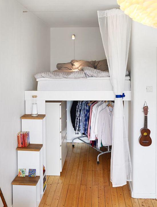 Вариант дизайна небольшой спальни