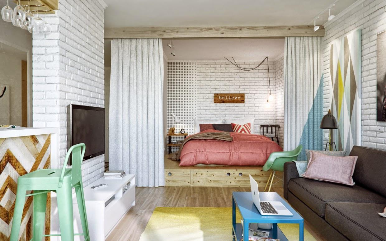 Вариант размещения мебели в спальне