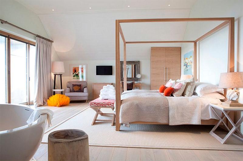 Великолепная спальня в мягком скандинавском стиле