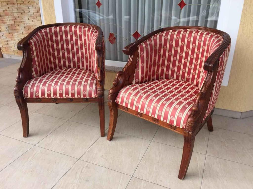 Винтажные кресла в стиле Ампир