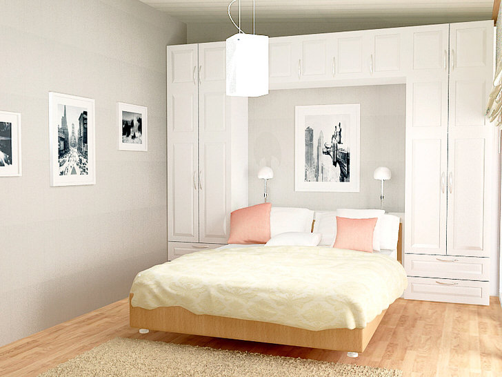 Встроенная кровать в скандинавском стиле