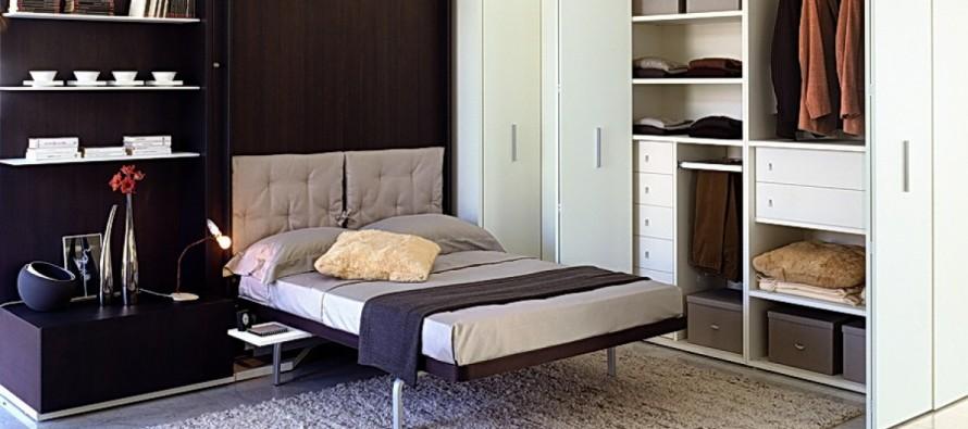 Встроенная мебель для сна в шкафу