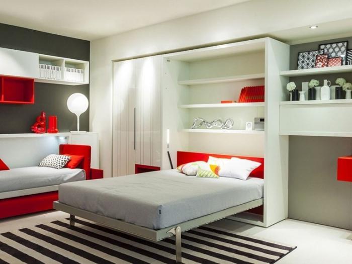 Встроенное спальное функциональное ложе