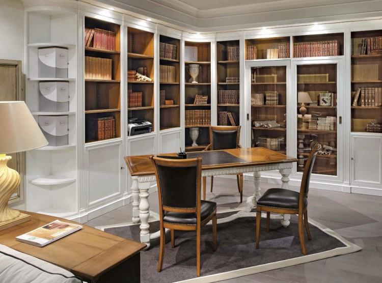 Встроенный угловой шкаф для книг