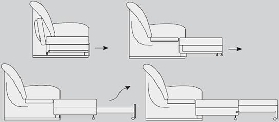 Выкатной механизм для дивана