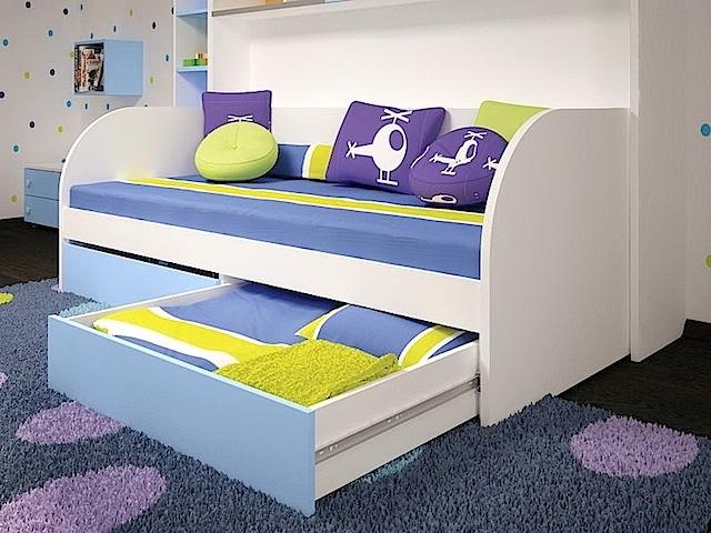 Ящики встроенные в кровать