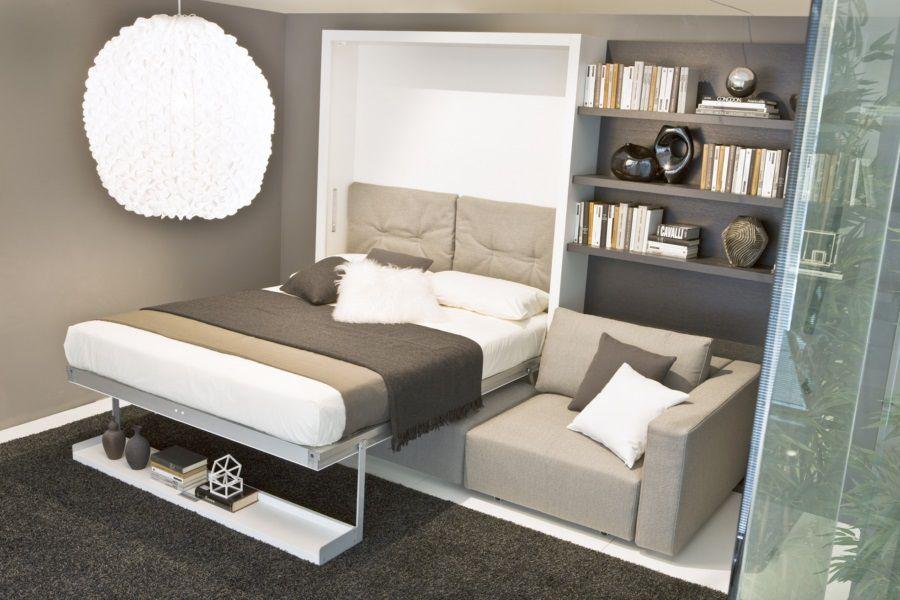 Зал со встроенной кроватью