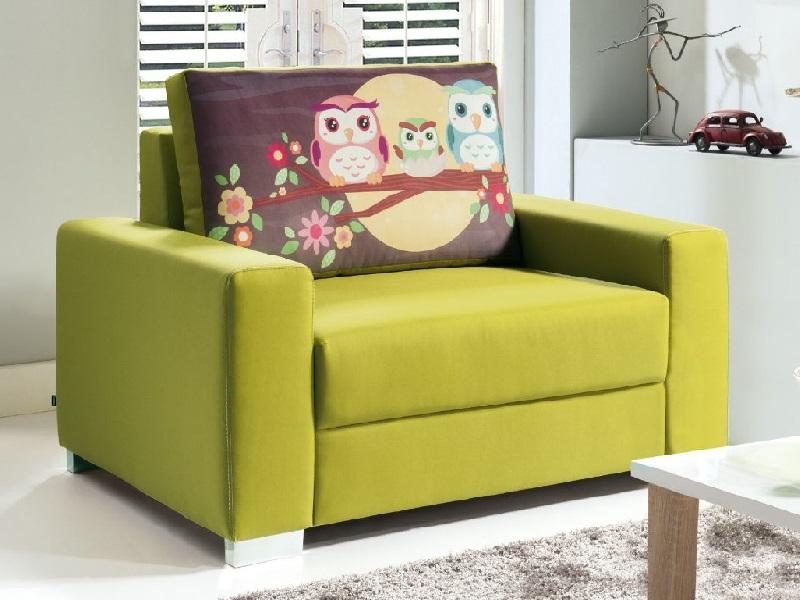 Зеленая мягкая мебель для сна