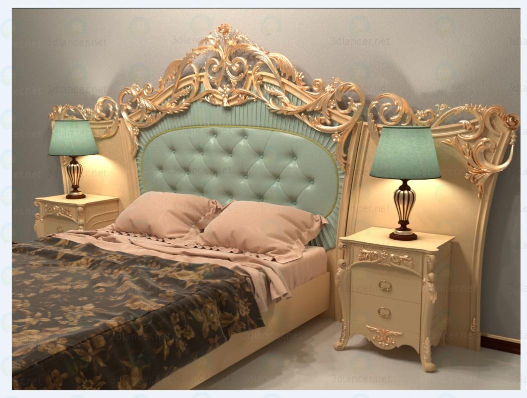 3D-модель кровать классика