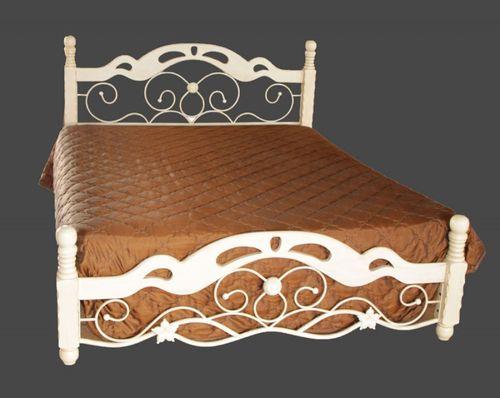Белый каркас кровати