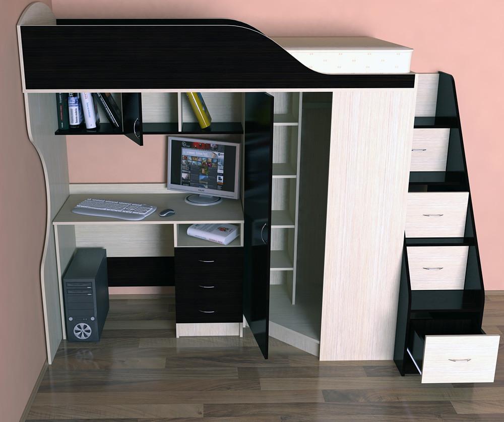 Черно-белое оформление спальни
