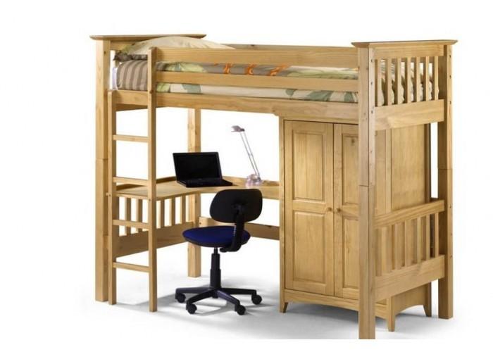 Деревянная кровать-чердак