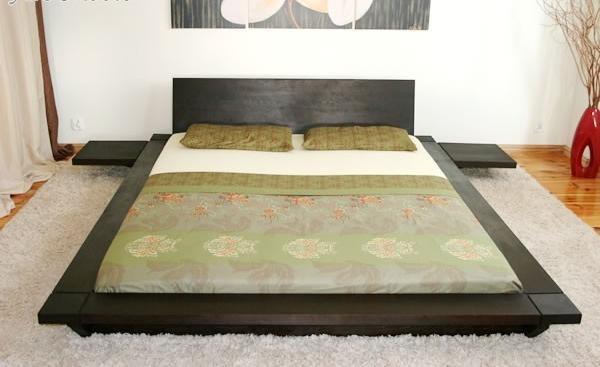 Деревянная кроват в японском стиле