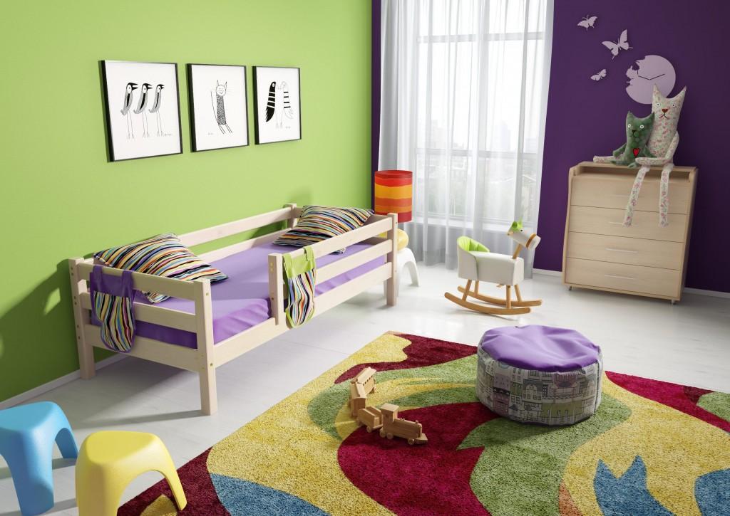 Детская кровать-тахта из сосны с бортиком