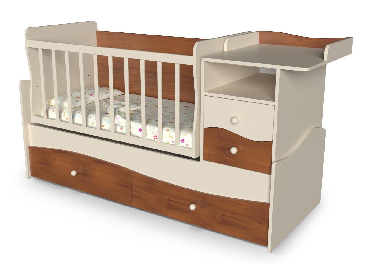 Детская кровать-трансформе с ящиками