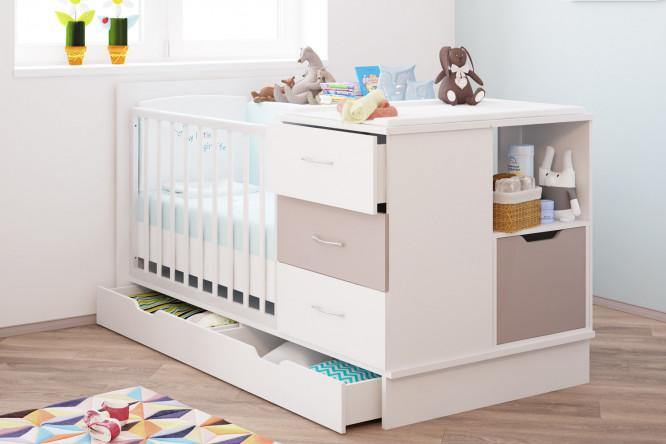 Детская кровать-трансформер белого цвета
