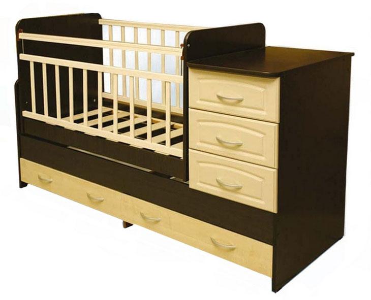 Детская кроватка с комодом