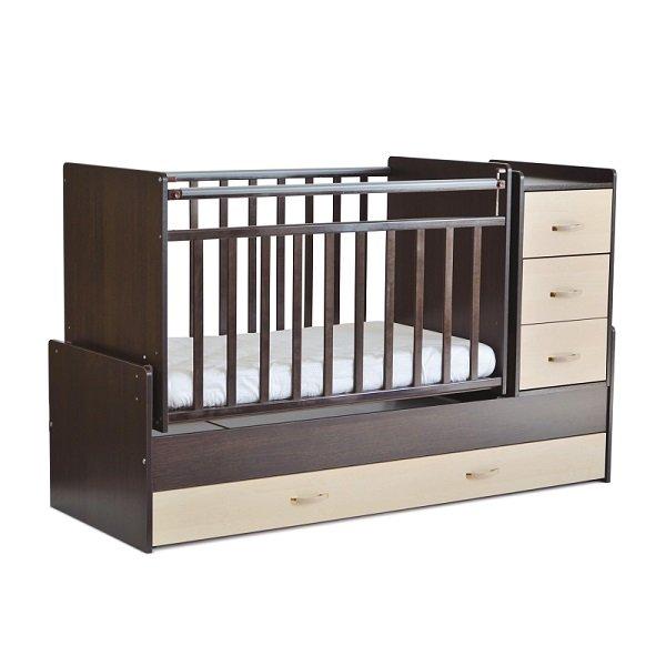 Детская кроватка-трансформер с полками