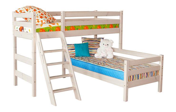 Детская угловая кровать-чердак