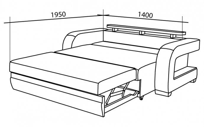 Диван Кровать с размерами