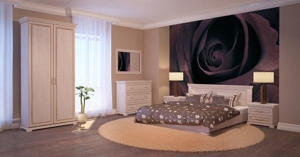 Дизайн просторной комнаты для сна