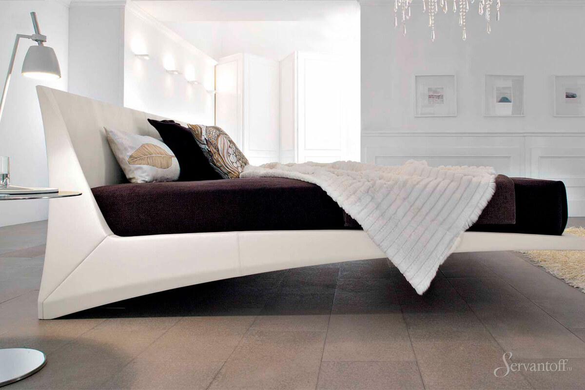 Дизайнерская кровать двуспальная хай тек — это мебель будущего