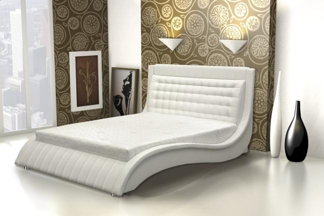 Долговечность кровати из экокожи заметно меньше