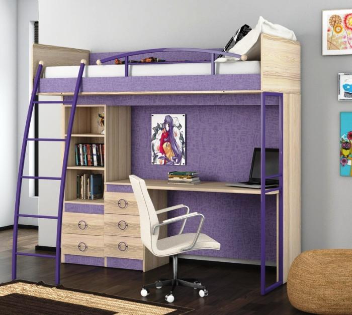 Двухэтажная кровать для школьника