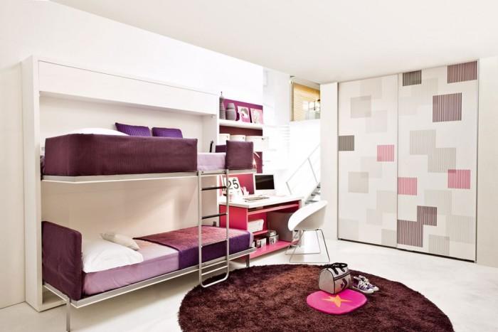 Двухъярусная кровать-трансформер для девочек подростков